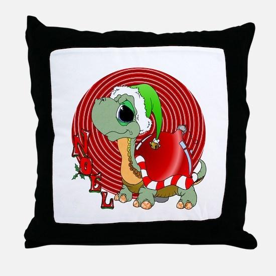 Noel Turtle Throw Pillow