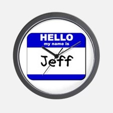 hello my name is jeff  Wall Clock