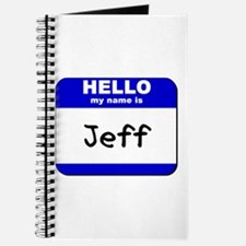 hello my name is jeff Journal