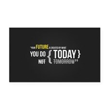 Motivational Quotes Rectangle Car Magnet