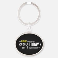 Motivational Quotes Oval Keychain
