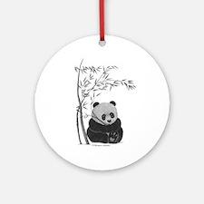 Little Panda Ornament (Round)
