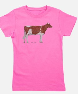Golden Guernsey cow Girl's Tee