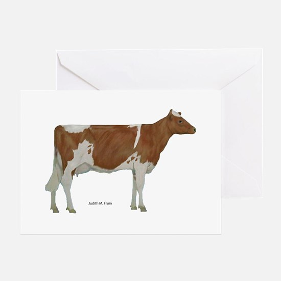 Golden Guernsey cow Greeting Card