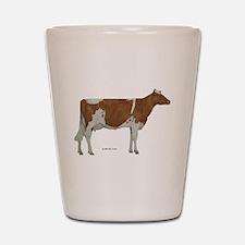 Golden Guernsey cow Shot Glass