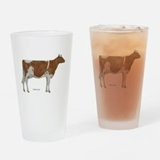 Golden Guernsey cow Drinking Glass