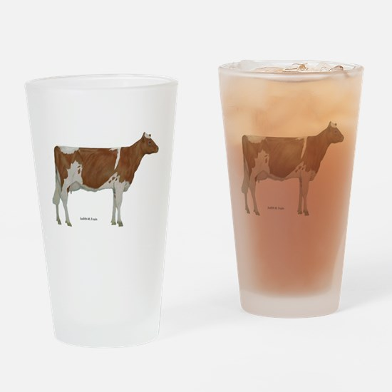Golden Guernsey cow Drinking Glass