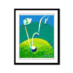 'Hole in One!' Framed Panel Print