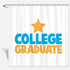 College Graduate with a star Shower Curtain