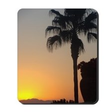 Sunset with Palm Mousepad