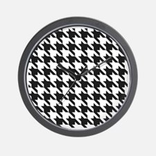 Classic Hounds Tooth Pattern Wall Clock