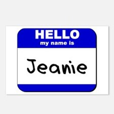 hello my name is jeanie  Postcards (Package of 8)