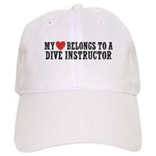 My Heart Belongs To A Dive Instructor Baseball Cap