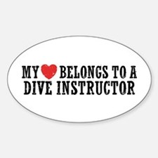 My Heart Belongs To A Dive Instructor Decal