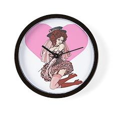 Pink Cotton Candy Cabaret Wall Clock