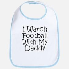 Watch Football With Daddy! Bib