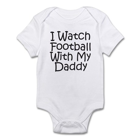 Watch Football With Daddy! Infant Bodysuit