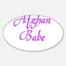 AFGHAN BABE Oval Decal