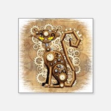 Steampunk Cat Vintage Style Sticker