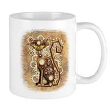 Steampunk Cat Vintage Style Mugs