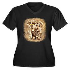 Steampunk Cat Vintage Style Plus Size T-Shirt