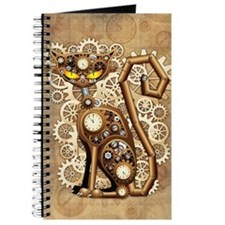 Steampunk Cat Vintage Style Journal