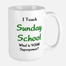 teach sunday school Large Mug
