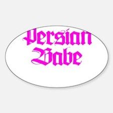 PERSIAN BABE Oval Decal