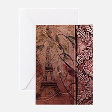 french botanical paris eiffel tower  Greeting Card