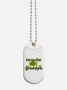 Favorite Grandpa Dog Tags
