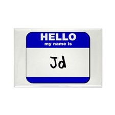 hello my name is jd Rectangle Magnet