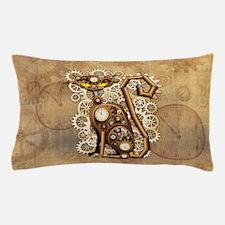 Steampunk Cat Vintage Style Pillow Case