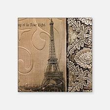 "artistic paris eiffel tower Square Sticker 3"" x 3"""
