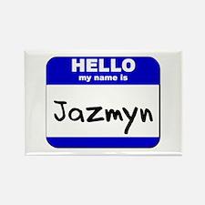 hello my name is jazmyn Rectangle Magnet