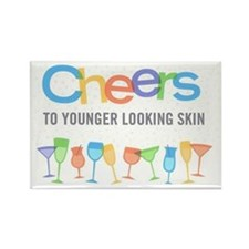 Cheers to Younger Looking Skin Rectangle Magnet
