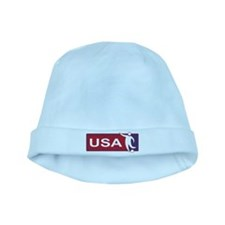 United states red white and blue soccer baby hat