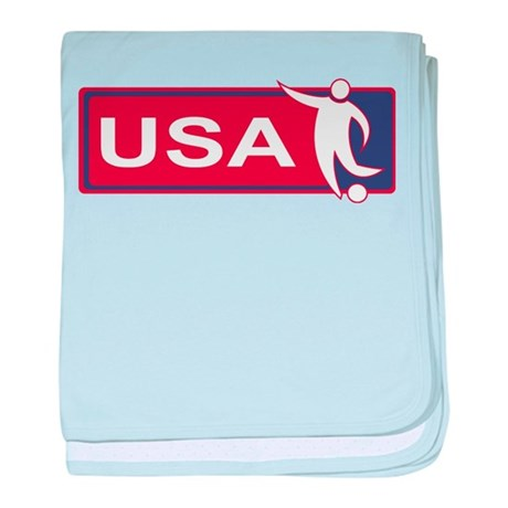 United states red white and blue soccer baby blank
