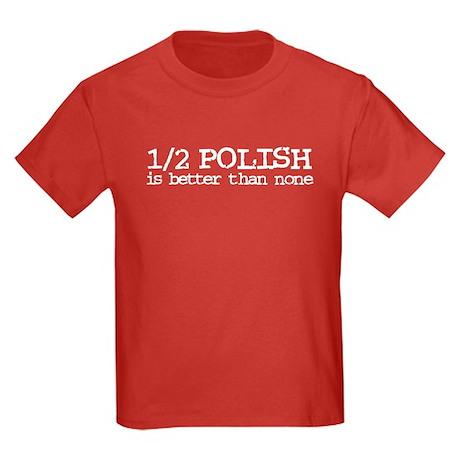 1/2 Polish Kids Dark T-Shirt
