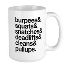 Crossfit Essentials Black Text Mugs
