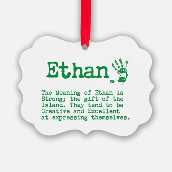 The Meaning of Ethan Ornament