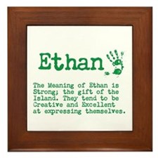The Meaning of Ethan Framed Tile