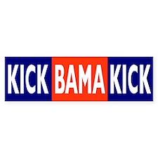 KICK BAMA KICK Bumper Bumper Sticker