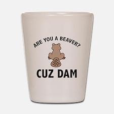 Are You A Beaver? Cuz Dam Shot Glass