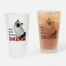 Love, Hope, Believe and Dream Drinking Glass