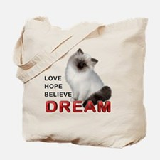 Love Hope Believe Dream Tote Bag