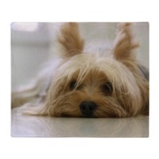 Yorkie Dog Throw Blanket