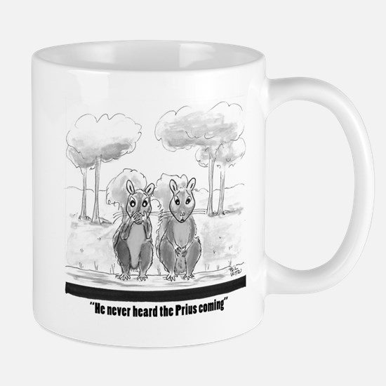 squirrel vs. Prius Mugs