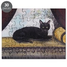 Black Cat by the Window Puzzle