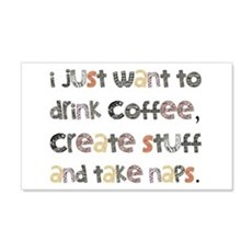 I Just Want To Drink Coffee Wall Decal