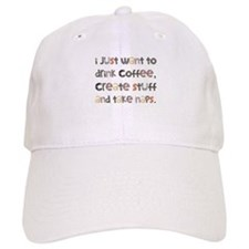 I Just Want To Drink Coffee Baseball Cap